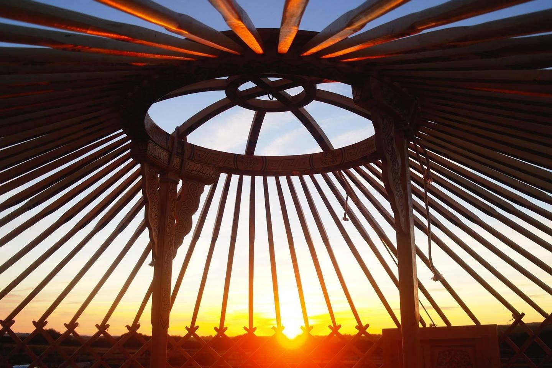 naked yurt