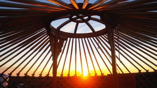 Sunset Yurt Cornwall